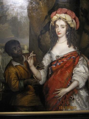 Adriaen Hannaman, portret Mary Henriette Stuart met bediende, 1664