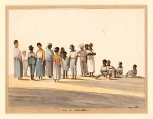 dansende 'huisslaven' 1811