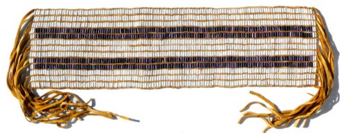 Belt, two row wampum treaty belt